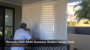 Bi Fold Shutters Interior Creative Blinds And Awnings Bermuda 2000 Bifold Aluminium Shutters