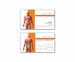 Massage Therapy Business Cards Business Card Design For Laura Favero By Workingad Design 2395835