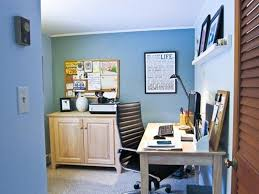 home office colors blue wall color with decorative bulletin board wall for small home