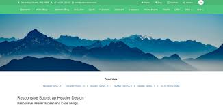 bootstrap design upperi responsive bootstrap header design by designcollection