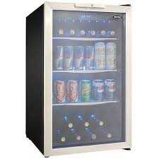 Glass Door Beverage Refrigerator For Home by Danby Locking 88 Can U0026 7 Bottle Adjustable Temp Stainless Steel