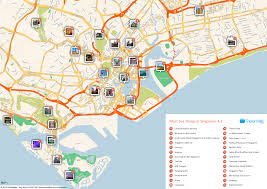 Changi Airport Floor Plan Free Printable Map Of Singapore Attractions Free Tourist Maps