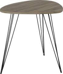 bout de canapé bois bout de canapé scandinave bois et métal johana 69x54xh60cm hanjel 2