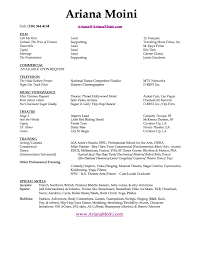 Musical Theater Resume Sample by Commercial Acting Resume Sample Http Www Resumecareer Info