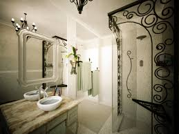nice bathroom ideas with elegant vanity mirror and shower frame