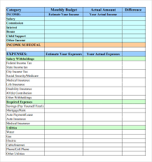 Monthly Bill Spreadsheet Template Simple Budget Simple Budget Worksheet Free Printable 58 Best