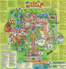 magic kingdom disney map magic kingdom map from 1993 the dvc boards at mouseowners com