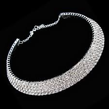 wedding choker necklace images Buy generic women 39 s full diamond crystal bling rhinestone choker jpg