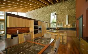 Ceiling Tiles For Restaurant Kitchen by Ceiling Stunning Rustic Kitchen Design With Large Island Also