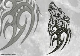 tribal wolves embroidery designs pack collection of 6