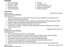 Restaurant Manager Resume Samples by Pretty Inspiration Objective For Resumes 15 Resume Objectives 46