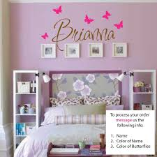 amazon com newsee decals brianna wall decal girls room amazon com newsee decals brianna wall decal girls room childrens wall decal wall art custom name vinyl stickers home kitchen