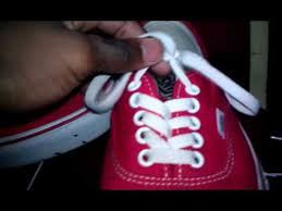 shoelace pattern for vans basic vans authentic lacing tutorial very brief youtube