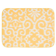 Ikat Kitchen Rug Interdesign Idry 24 In X 18 In X Large Kitchen Mat In Yellow