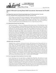 model of domain learning based skill assessment instrument set