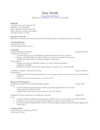 Resume Objective For Undergraduate Student Resume Objective Science Examples Template
