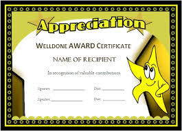 award templates for students microsoft word award certificates
