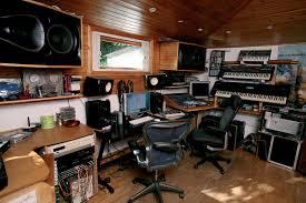 interior home music studio interior ideas with stone wall tile