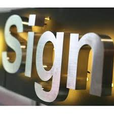 indoor customized stainless steel led channel letters backlit