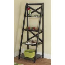 Wooden Ladder Bookshelf Plans by Best 25 Black Ladder Shelf Ideas On Pinterest Leaning Shelves
