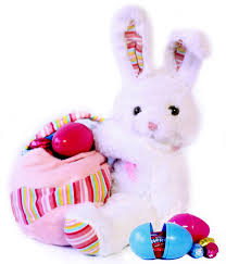 easter bunny candy plush easter bunny with chocolate egg filled easter basket