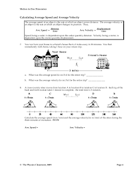 Speed Velocity And Acceleration Calculations Worksheet Answers 1d Motion Worksheet Packet