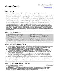 General Contractor Resume Samples by Resume Sample 20 Construction Superintendent Resume Career Resumes