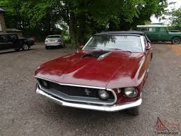 ford mustang 1969 convertible v8 gt wheels maroon paint