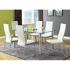 amazon com furniture of america novae 7 piece dining set with