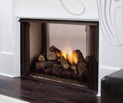 intriguing and pleasant vent free see through fireplace meant for