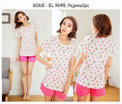 Baju Tidur 9045 90rb jual baju tidur lengan dan celana pendek olive popeye pink