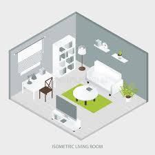 isometric home interior stock vector image 74659386