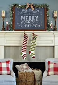 Rustic Mantel Decor 38 Christmas Mantel Decorations Ideas For Holiday Fireplace