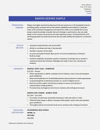 Resume Samples Of Skills by Best Resume For A Barista U2013 Resume Template For Free