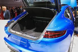porsche panamera trunk update 2017 porsche panamera looks like a four door 911 in paris
