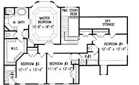 4 bedroom one story house plans colonial style house plan 4 beds 3 50 baths 2936 sq ft plan 54 150