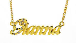 Necklace With Name 18k Gold Plated Necklace With Name Gianna Custom Anniversary