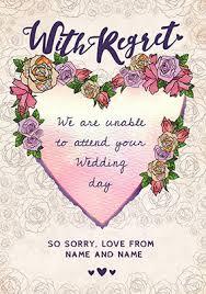 wedding wishes regrets rsvp decline regret cards funky pigeon