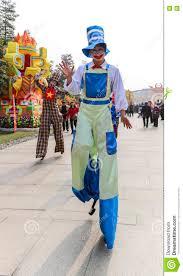 clown stilts for sale clown walking on stilt in a park chengdu china editorial image