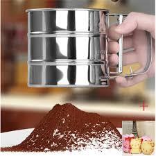 tamiser cuisine tamiser la farine en acier inoxydable mesh colander sucre de cuisine