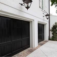 Painting Doors And Trim Different Colors Black Garage Doors Monochrome Traditional Dream House