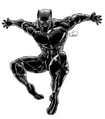 black panther marvel marvel black panther digital drawing by laduski on deviantart