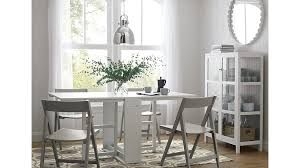 Span White Gateleg Dining Table Crate And Barrel - Barrel kitchen table
