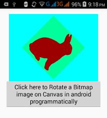 android bitmap rotate bitmap image on canvas in android programmatically
