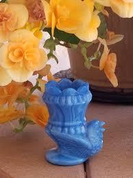 boyds blue slag bird toothpick holder blue slag toothpick