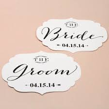 Bride And Groom Chair Signs Bride And Groom Chair Signs Printable By Basic Invite