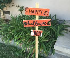 halloween wooden picket sign u2013 the how to duo