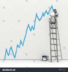 painting a wall little sketchy man ladder painting positive stock illustration