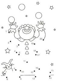 circus color by number coloring page odd and even numbers art