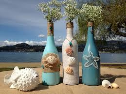 painted mason jar vase beach decor wedding centerpiece